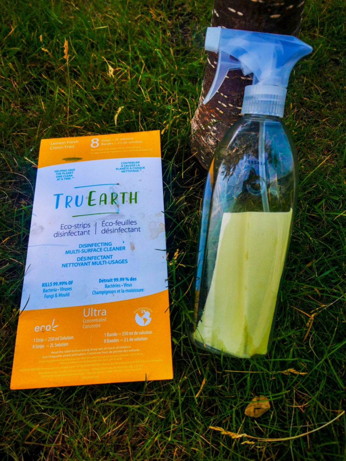 TruEarth eco-strips disinfectant